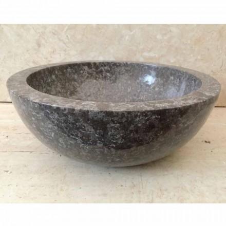 Aufsatzwaschbecken aus Naturstein grau Levi, Einzelstück