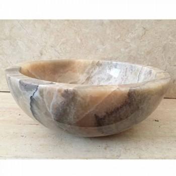 Aufsatzwaschbecken aus Onyx-Naturstein Ana, handgefertigt