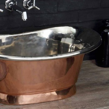 Waschbecken Badezimmer Kupfer und weiß Eisen Cala zu unterstützen