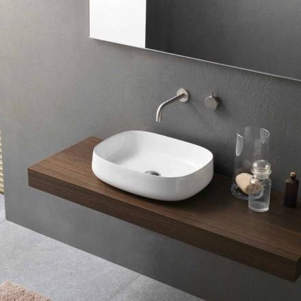 Modernes Design White Countertop Keramik Waschbecken Made in Italy - Tune2