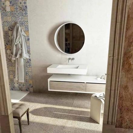 Waschtischplatte mit integrierten zentralen Waschbecken Gemona, made in Italy