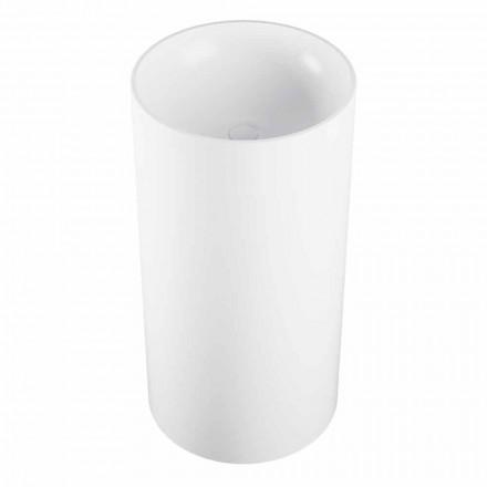 Waschbecken freestanding in Zylinderform in Italien hergestellt, Rumo