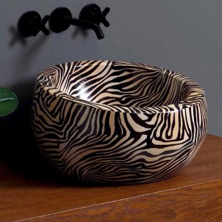 Modernes rundes Aufsatzwaschbecken aus Keramik hergestellt in Italy Elisa