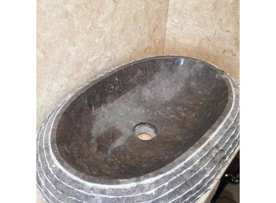Ewa dunkelgraues Waschbecken, ein Stück