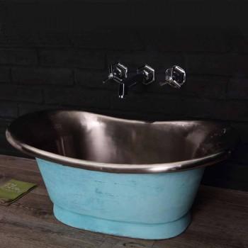 Waschbecken fertig in weiß Eisen und verdigris Cala