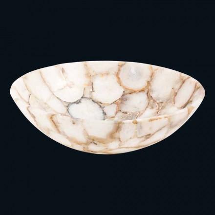 Aufsatzwaschbecken aus kristallinem Stein Poncho Design