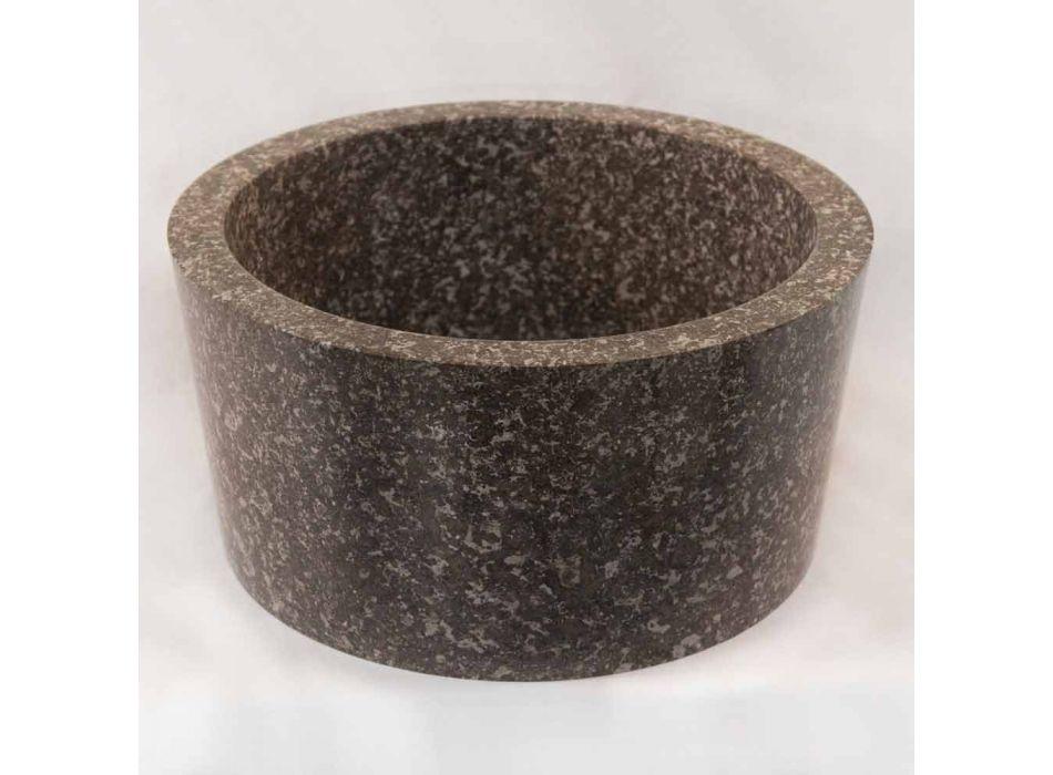 Design Aufsatzwaschbecken aus grauem Naturstein Zhen