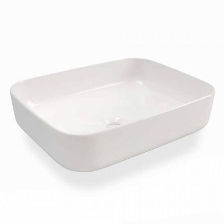 Modernes Design Aufsatzwaschbecken aus weißer Keramik Made in Italy - Turku