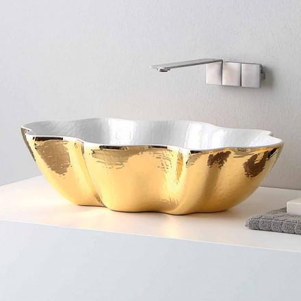 Aufsatzwaschbecken aus Keramik im modernen Design made in Italy Cubo