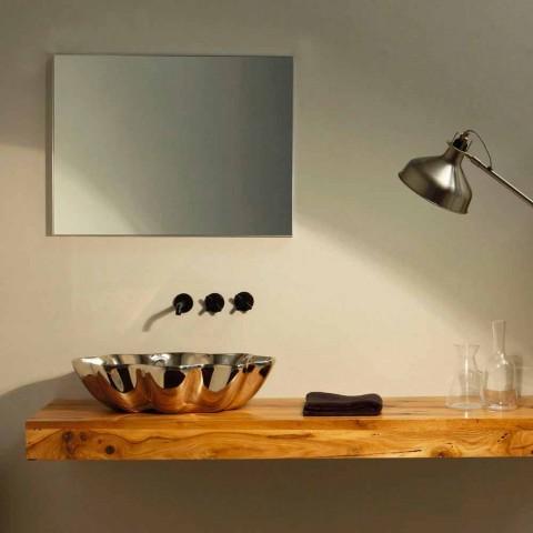 Waschbecken aus Keramik in modernem Design aus Italien Cubo