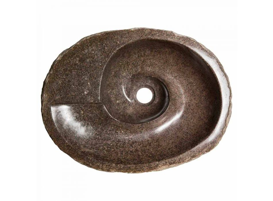 Aufsatzwaschbecken mit modernem Design aus Flussstein, Busca