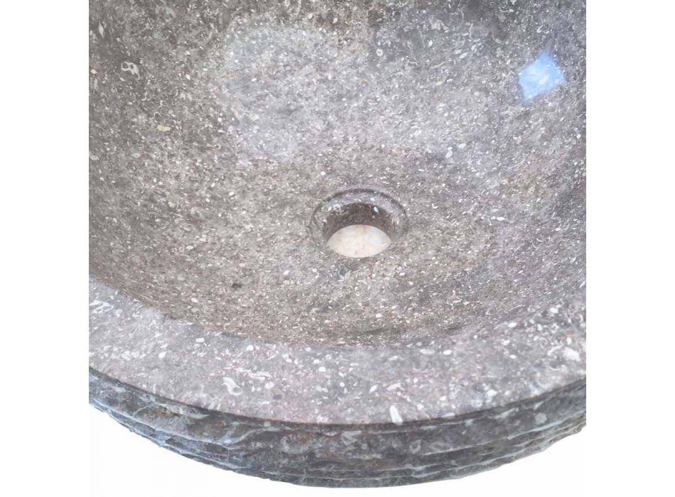 Grau Naturstein Waschbecken Finn, ein Stück