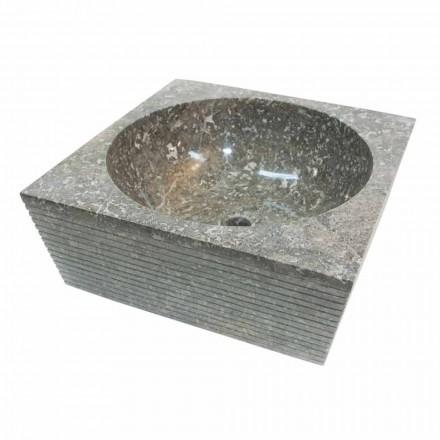 Aufsatzwaschbecken aus Naturstein grau Zor, Einzelstück