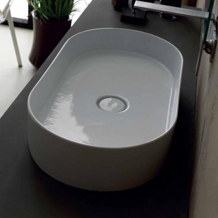 Aufsatzwaschbecken aus Keramik modernes Design Sun made Italy 65x35cm