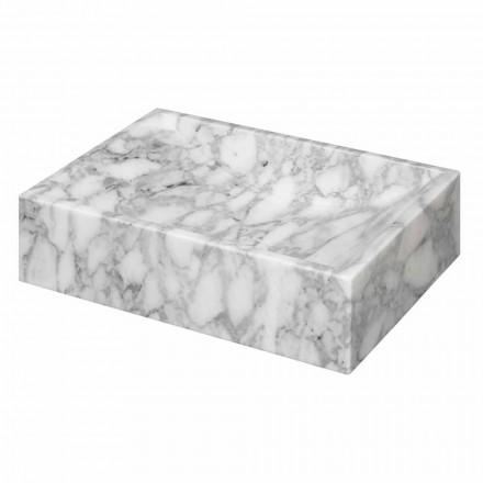Aufsatzwaschbecken aus Cararra Marmor quadratisch – Canova
