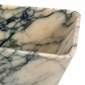 Arbeitsplatte Waschbecken im Paonazzo Marmor Quadrat Design Made in Italy - Karpa