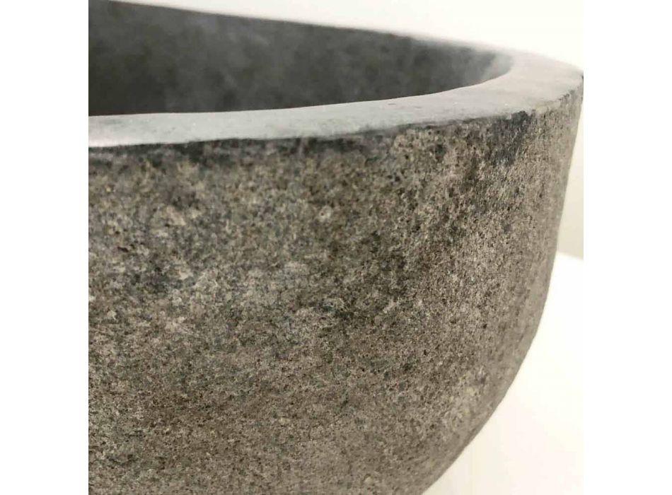Aufsatzwaschbecken aus Akta-Flussstein, Einzelstück