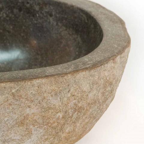 Waschbecken aus Naturstein Kai, ein Stück