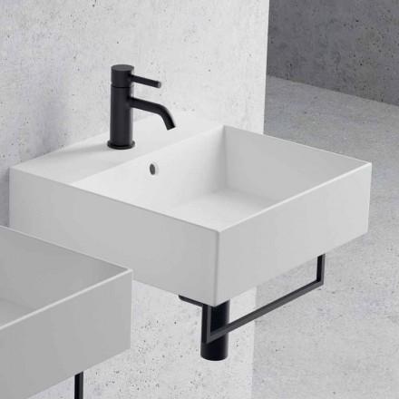 Arbeitsplatte oder Wandwaschbecken im Keramikquadrat-Design - Malvina