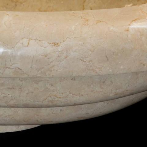 Waschbecken einzigen Stück natürlichen weißen Stein Tito