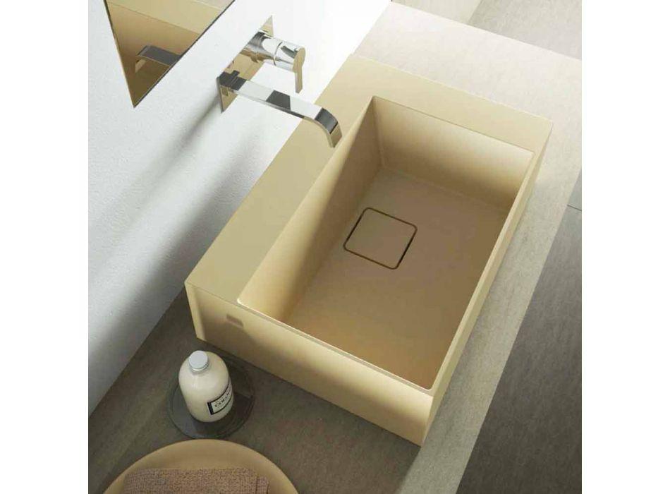 Quadratisches Waschbecken im modernen Design, hergestellt in Italien, Lavis