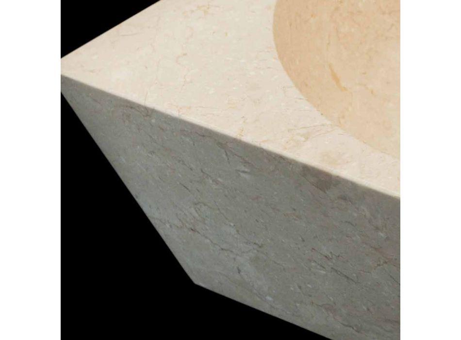 Waschbecken Unterstützung Quadrat Naturstein Jiny Weiß