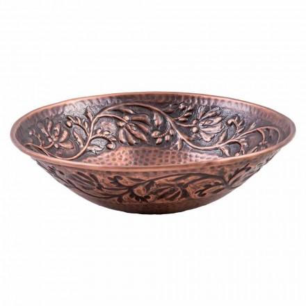 Handgearbeitetes Aufsatzwaschbecken aus Kupfer, Pallare, Einzelstück