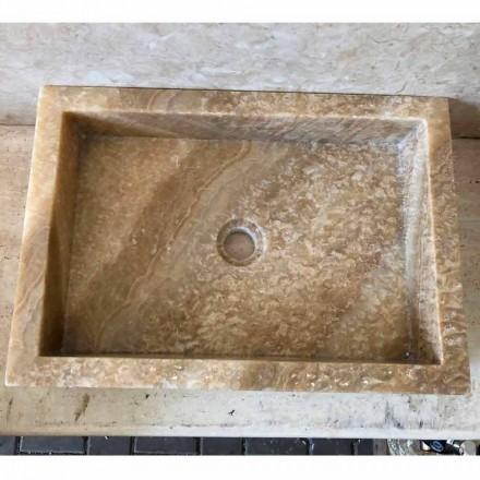 Modernes Aufsatzwaschbecken aus Onyxstein Jef, Unikat