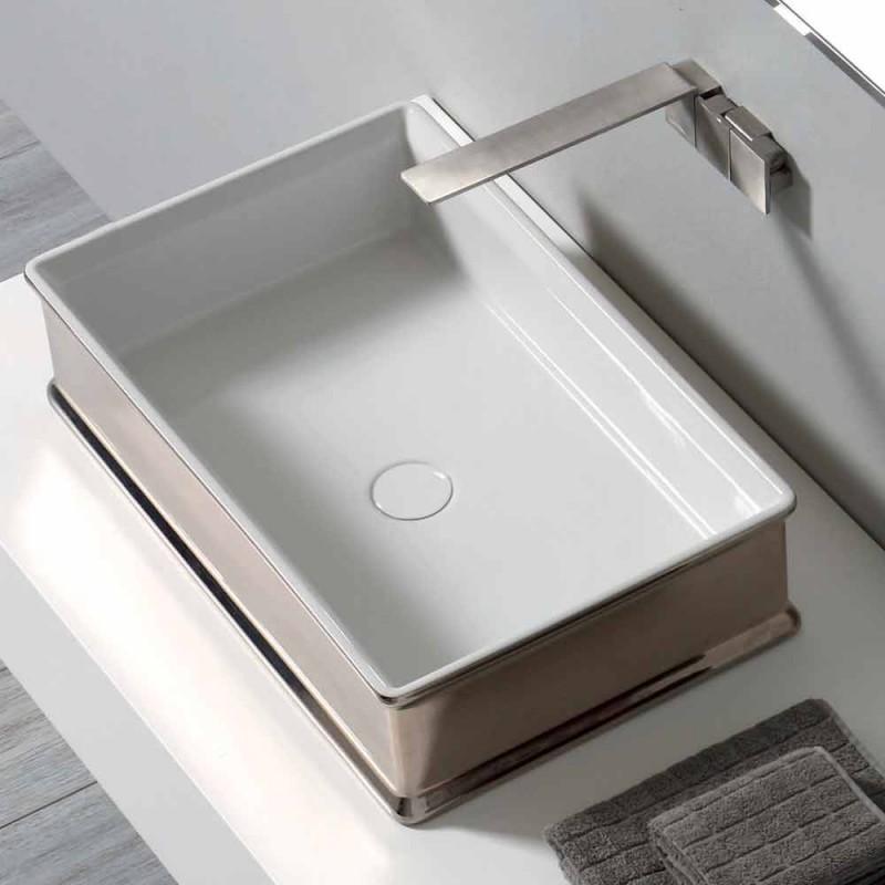 Aufsatzwaschbecken aus Keramik von Debora im modernen Design aus Italien