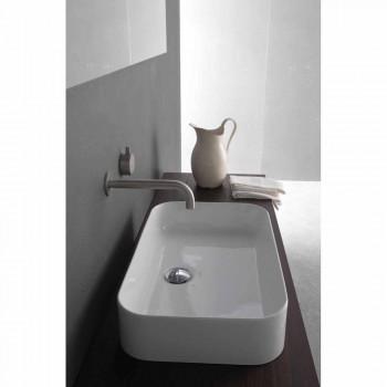 Rechteckige rechteckige Arbeitsplatte Keramik Waschbecken - Tangulo