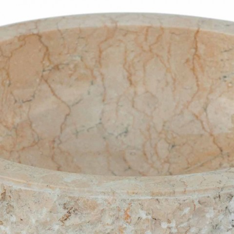 Modernes Aufsatzwaschbecken aus weißem Naturstein Lola, Einzelstück