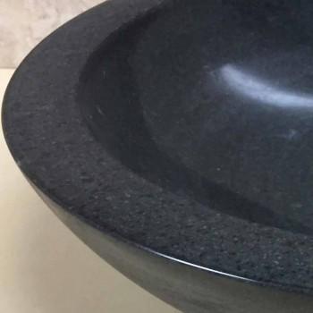 Design Aufsatzwaschbecken aus schwarzem Ziva-Naturstein