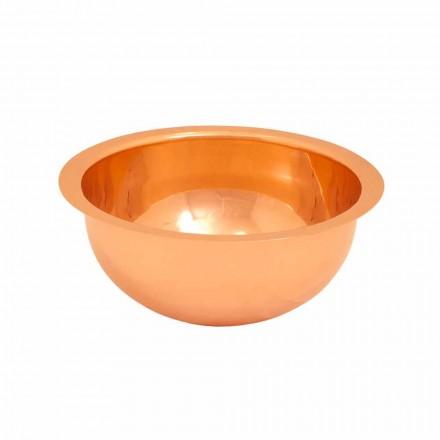 Rundes Design Waschbecken aus Kupfer handbearbeitet Flora