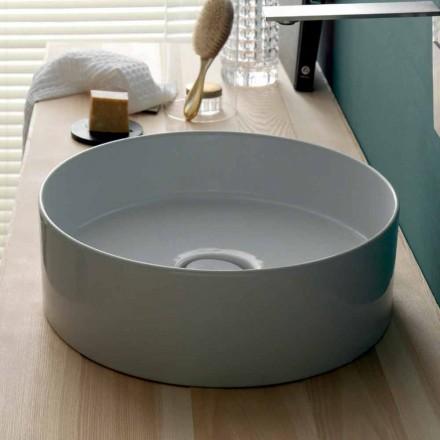 Rundes Aufsatzwaschbecken Keramik modern Sun Circle  Durchmesser 40cm
