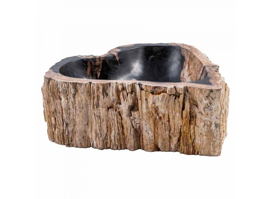 Handgefertigte Spüle aus fossilem Holz, Neirone