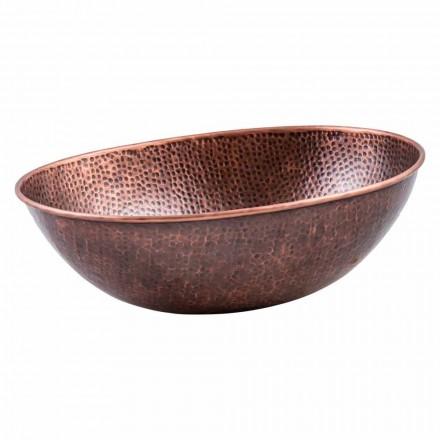 Modernes ovales Aufsatzwaschbecken aus Kupfer, Pagliara, Einzelstück