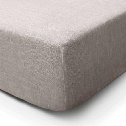 Passende Bettwäsche aus reinem Leinen in natürlicher Farbe Made in Italy - Copertino