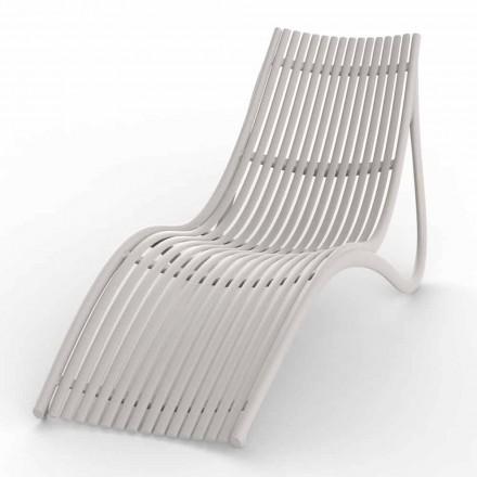 Chaiselongue im Freien in Weiß oder Ecru-Design, 4 Stück - Ibiza von Vondom