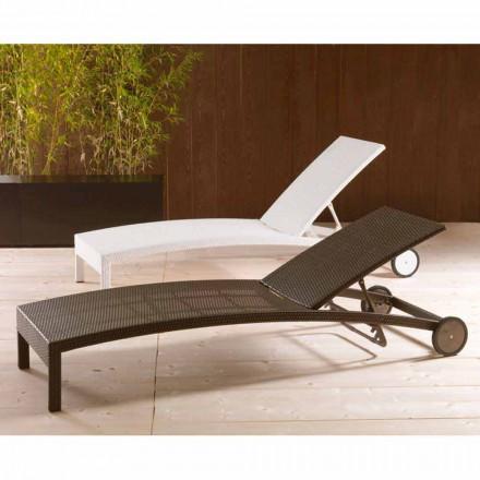 Sonnenliege mit Rollen und verstellbarer Rückenlehne Sun Bed
