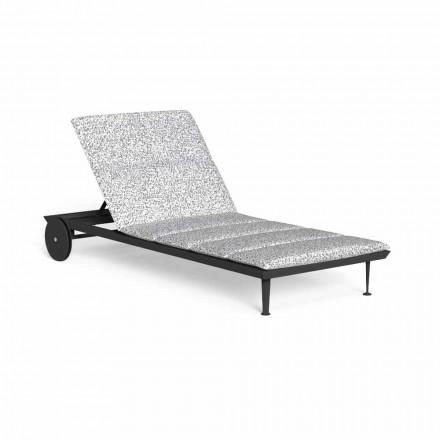 Liegende Garten-Chaiselongue mit Luxusrädern - Cruise Alu von Talenti