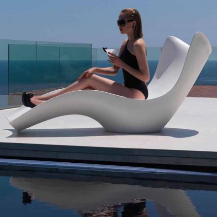 Moderne Sonnenliege aus Polyethylen, Surf by Vondom, 2 Stücke