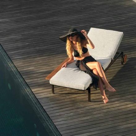 Sonnenliege gepolstert in modernem Design mit Rollen Casilda Talenti