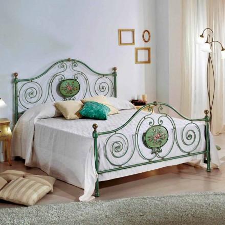 Doppelbett aus Schmiedeeisen mit Dekorationen Rachael 160x190 cm