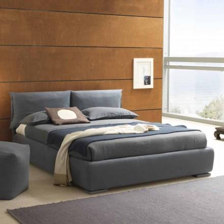 Doppelbett mit Container, zeitgenössisches Design Iorca Bolzan
