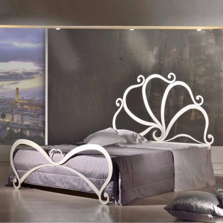 Doppelbett aus Eisen mit Kristall Eden 160x190 cm in modernem Design