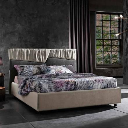 Modernes Design Doppelbett mit gefaltetem oder gestepptem Kopfteil - Alano