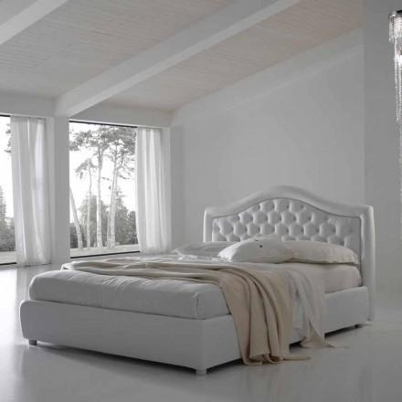 Doppelbett ohne Box, klassisches Design, Capri von Bolzan