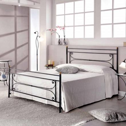 Doppelbett 160x190 cm Schmiedeeisen handgefertigt Evelyn Made in Italy