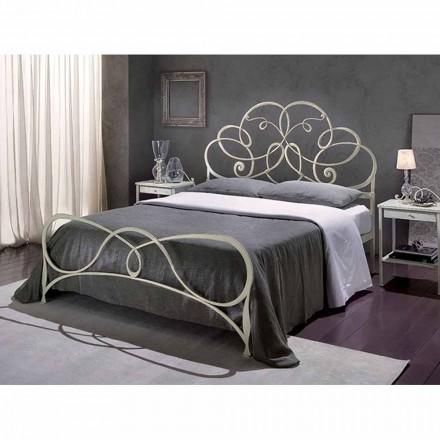 Doppelbett aus Schmiedeeisen Granito