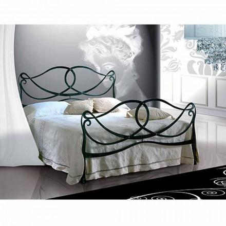 Doppelbett aus Schmiedeeisen Orchidea